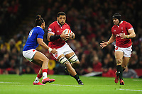 Taulupe Faletau of Wales in action during the Guinness Six Nations Championship Round 3 match between Wales and France at the Principality Stadium in Cardiff, Wales, UK. Saturday 22 February 2020