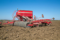 Drilling spring beans - Suffolk, April