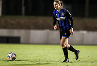 Raquel Viaene (5) of Club Brugge with the ball during a female soccer game between FC Femina White Star Woluwe and Club Brugge YLA on the eleventh matchday of the 2020 - 2021 season of Belgian Scooore Womens Super League , Friday 22 January 2021  in Woluwe , Belgium . PHOTO SPORTPIX.BE   SPP   SEVIL OKTEM