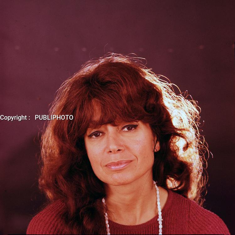 Portrait exclusif de l'actrice<br /> Pauline Julien<br /> , vers 1984<br /> (Date inconnue)<br /> <br /> PHOTO :  Dumouchel - Publiphoto -  Agence Quebec Presse