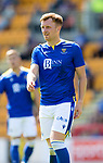 St Johnstone v Fleetwood Town…24.07.21  McDiarmid Park<br />Liam Craig<br />Picture by Graeme Hart.<br />Copyright Perthshire Picture Agency<br />Tel: 01738 623350  Mobile: 07990 594431