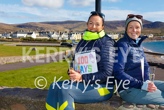 Best of Friends left, Fiona Higgins and Liz Conlon from Waterville have completed 100 Days of walking raising almost €4,000 for Cancer Research(in Memory of Jacqui Fitzgerald) & Recovery Haven in Tralee.