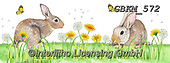 Kate, EASTER, OSTERN, PASCUA, paintings+++++Rabbits and dandelions.,GBKM572,#e#, EVERYDAY ,rabbit,rabbits,
