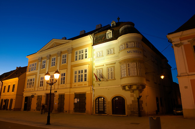 """1860 Romantic Style building on Szechenyi square - """"The House of Iron Stock"""" or """"The House Of Jurors"""" - ( Gy?r )  Gyor Hungary"""