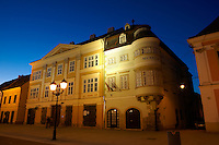 "1860 Romantic Style building on Szechenyi square - ""The House of Iron Stock"" or ""The House Of Jurors"" - ( Gy?r )  Gyor Hungary"