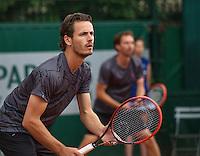 Paris, France, 24 June, 2016, Tennis, Roland Garros,  Doubles: Wesley Koolhof/Matwe Middelkoop (R) (NED) <br /> Photo: Henk Koster/tennisimages.com