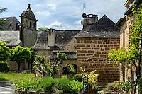 France, Corrèze (19), Lissac-sur-Couze, le village et l'église Saint-Pierre-aux-Liens // France, Correze, Lissac sur Couze, the village and Saint Pierre church