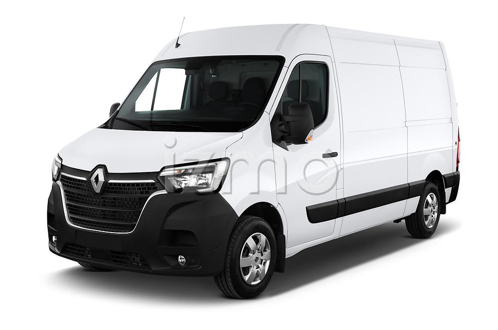 2020 Renault Master Confort 4 Door Cargo Van angular front stock photos of front three quarter view