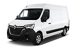2020 Renault Master Confort 4 Door Cargo Van angular front stock photos of front three quarter view