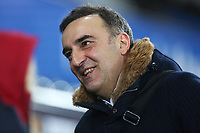 Swansea City manager Carlos Carvalhal arrives at Liberty Stadium prior to kick off of the Premier League match between Swansea City and Tottenham Hotspur at the Liberty Stadium, Swansea, Wales, UK. Tuesday 02 January 2018