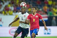 Action photo during the match Colombia vs Costa Rica, Corresponding to  Group -A- of the America Cup Centenary 2016 at NRG Stadium.<br /> <br /> Foto de accion durante el partido Colombia vs Costa Rica, Correspondiente al Grupo -A- de la Copa America Centenario 2016 en el Estadio NRG , en la foto: (i-d) Yerry Mina de Colombia y Johan Venegas de Costa Rica<br /> <br /> <br /> 11/06/2016/MEXSPORT/Jorge Martinez.