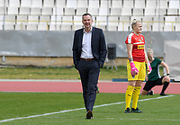 20190304 - LARNACA , CYPRUS : Austrian head coach Dominik Thalhammer pictured during a women's soccer game between Slovakia and Austria , on Monday 4 th March 2019 at the GSZ Stadium in Larnaca , Cyprus . This is the third and last game in group C for both teams during the Cyprus Womens Cup 2019 , a prestigious women soccer tournament as a preparation on the Uefa Women's Euro 2021 qualification duels. PHOTO SPORTPIX.BE | DAVID CATRY