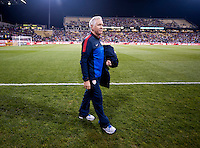 Tom Sermanni. The USWNT tied New Zealand, 1-1, at an international friendly at Crew Stadium in Columbus, OH.