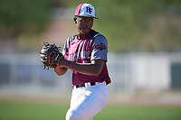 Andre Duplantier II (8) of Summer Creek High School in Houston, Texas during the Baseball Factory All-America Pre-Season Tournament, powered by Under Armour, on January 13, 2018 at Sloan Park Complex in Mesa, Arizona.  (Mike Janes/Four Seam Images)