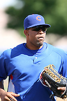 Smaily Borges, Chicago Cubs 2010 minor league spring training..Photo by:  Bill Mitchell/Four Seam Images.