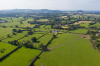 BNPS.co.uk (01202 558833)<br /> Pic: Savills/BNPS<br /> <br /> Pictured: An aerial view of the property.<br /> <br /> A historic thatched home where Cromwell's army stayed during the English Civil War is on the market for £1.6m.<br /> <br /> The Barracks, so-named for its links with Cromwell more than 370 years ago, has spectacular country views and is in one of Cheshire's most popular areas.<br /> <br /> The five-bedroom property just outside the picturesque village of Bunbury is a far cry from how it would have looked in Cromwell's time, having been extended over the years.<br /> <br /> It was used in the 17th century by Cromwell's armies during the siege of Beeston Castle - two miles away. The castle's location made it valuable to both the royalists and parliamentarians.