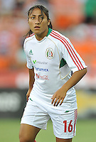 Stephany Mayor (16) of Mexico during pre-game warmups. The USWNT defeated Mexico 7-0 during an international friendly, at RFK Stadium, Tuesday September 3 , 2013.