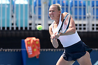 MIAMI GARDENS, FL - MARCH 23: Kaia Kanepi seen playing on day 2 of the Miami Open on March 23, 2021 at Hard Rock Stadium in Miami Gardens, Florida<br /> <br /> <br /> People:  Kaia Kanepi
