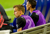 CARSON, CA - OCTOBER 14: Tommy Thompson #22 and Chris Wondolowski #8 of the San Jose Earthquakes l during a game between San Jose Earthquakes and Los Angeles Galaxy at Dignity Heath Sports Park on October 14, 2020 in Carson, California.