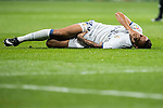 Danielo Luiz Da Silva of Real Madrid lies injured on the pitch during the La Liga match between Real Madrid and RC Deportivo La Coruna at the Santiago Bernabeu Stadium on 10 December 2016 in Madrid, Spain. Photo by Diego Gonzalez Souto / Power Sport Images