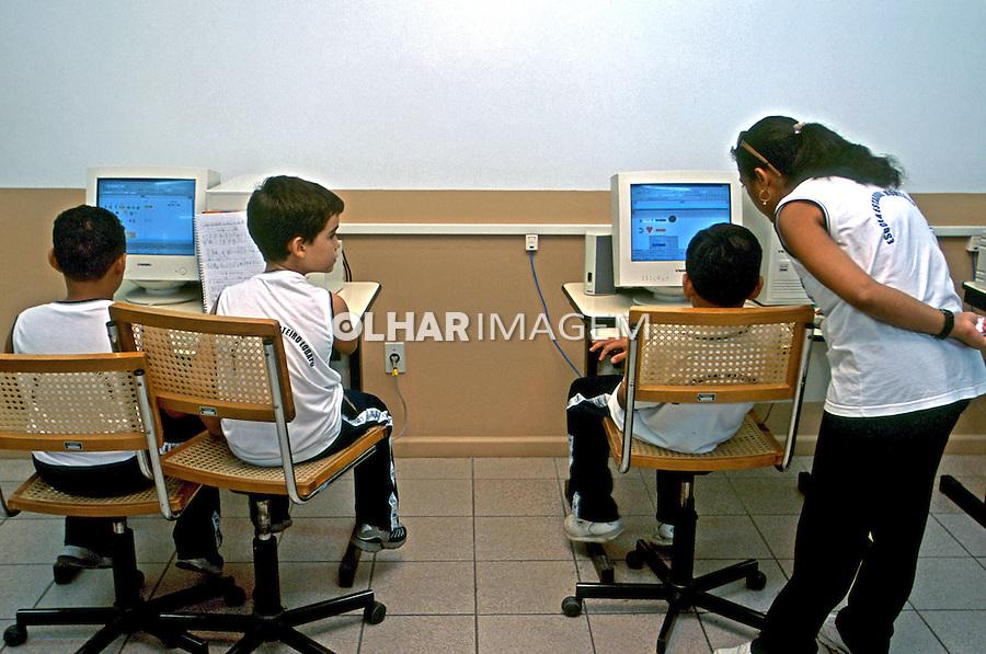 Escola Estadual Monteiro Lobato em Boa Vista. 2003. Foto de Juca Martins.