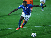 Football: Uefa Nations League Group A match Italy vs Netherlands at Gewiss stadium in Bergamo, on October 14, 2020.<br /> Italy's Moise Kean in action during the Uefa Nations League match between Italy and Netherlands at Gewiss stadium in Bergamo, on October 14, 2020. <br /> UPDATE IMAGES PRESS/Isabella Bonotto