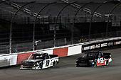 #19: Derek Kraus, McAnally Hilgemann Racing, Toyota Tundra Gates Hydraulics/NAPA Belts & Hoses #56: Timmy Hill, Hill Motorsports, Chevrolet Silverado