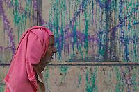 Street scenes during Holi Festival Varanasi India,