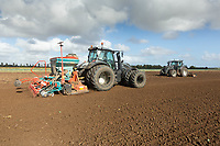 15-10-2021 Power harrowing and Drilling Winter wheat in Lincolnshire <br />  ©Tim Scrivener Photographer 07850 303986<br />      ....Covering Agriculture In The UK....