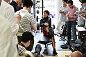 Boxing : Naoya Inoue media workout at Ohashi Boxing Gym