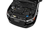 Car stock 2015 Audi A3 1.8 Premium Plus  2 Door Convertible engine high angle detail view