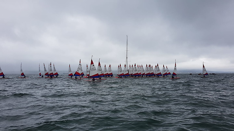 There were 56 competitors in two Topper fleets of 4.2 and 5.3