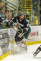 29 December 2014: Providence College Friar Forward Niko Rufo, a Sophomore from Stoneham, MA, in first period action against the University of Vermont Catamounts during the deciding game of the annual TD Bank-Sheraton Catamount Cup Tournament at Gutterson Fieldhouse in Burlington, Vermont. The Friars shut out the Catamounts 3-0 to win the 2014 Cup. Mandatory Credit: Ed Wolfstein Photo *** RAW (NEF) Image File Available ***