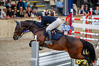 NZL-Brooke Edgecombe rides LT Holst Andrea. Class 23: Fiber Fresh Horse 1.40m Ranking Class. 2021 NZL-Easter Jumping Festival presented by McIntosh Global Equestrian and Equestrian Entries. NEC Taupo. Saturday 3 April. Copyright Photo: Libby Law Photography