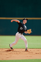 Casey Saucke II (31) of Greece Athena High School in Rochester, NY during the Perfect Game National Showcase at Hoover Metropolitan Stadium on June 17, 2020 in Hoover, Alabama. (Mike Janes/Four Seam Images)