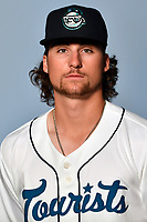 Asheville Tourists infielder Ryan Vilade (4) poses for a photo at Story Point Media on April 3, 2017 in Asheville, North Carolina. (Tony Farlow/Four Seam Images)