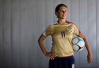 Carli Lloyd. U.S. Women's National Team portrait photoshoot. June 8, 2007 in Carson, CA.