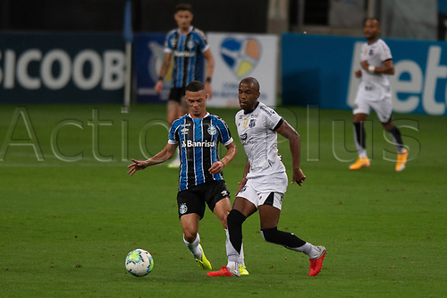 14th November 2020; Arena de Gremio, Porto Alegre, Brazil; Brazilian Serie A, Gremio versus Ceara; Darlan of Gremio and Fabinho of Ceara
