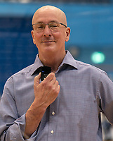 Len Busch Head Coach of Sevenoaks Suns at the post match interview during the WBBL Championship match between Sevenoaks Suns and Newcastle Eagles at Surrey Sports Park, Guildford, England on 20 March 2021. Photo by Liam McAvoy