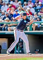 25 February 2019: Atlanta Braves infielder Griffin Robert Benson at bat during a pre-season Spring Training game against the Washington Nationals at Champion Stadium in the ESPN Wide World of Sports Complex in Kissimmee, Florida. The Braves defeated the Nationals 9-4 in Grapefruit League play in what will be their last season at the Disney / ESPN Wide World of Sports complex. Mandatory Credit: Ed Wolfstein Photo *** RAW (NEF) Image File Available ***