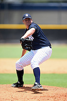 GCL Yankees 2 pitcher Jonathan Holder (56) delivers a pitch during a game against the GCL Braves on June 23, 2014 at the Yankees Minor League Complex in Tampa, Florida.  GCL Yankees 2 defeated the GCL Braves 12-4.  (Mike Janes/Four Seam Images)