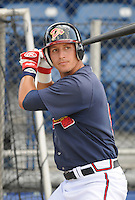 June 18, 2008: Infielder Chais Fuller (8) of the Danville Braves, rookie Appalachian League affiliate of the Atlanta Braves, prior to a game against the Burlington Royals at Dan Daniel Memorial Park in Danville, Va. Photo by:  Tom Priddy/Four Seam Images