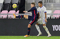 FORT LAUDERDALE, FL - DECEMBER 09: Chris Mueller #11 of the United States gets after a ball during a game between El Salvador and USMNT at Inter Miami CF Stadium on December 09, 2020 in Fort Lauderdale, Florida.