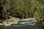 Mokelumne River down stream of the reservoir below White Azalia Campground, Amador Co., Calif.