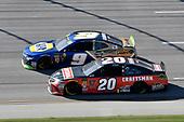#9: Chase Elliott, Hendrick Motorsports, Chevrolet Camaro NAPA NIGHTVISION LAMPS, #20: Erik Jones, Joe Gibbs Racing, Toyota Camry Craftsman