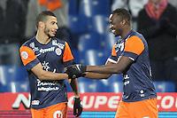 Younes Belhanda et John Utaka .Football Calcio 2012/2013.Ligue 1 Francia.Foto Panoramic / Insidefoto .ITALY ONLY