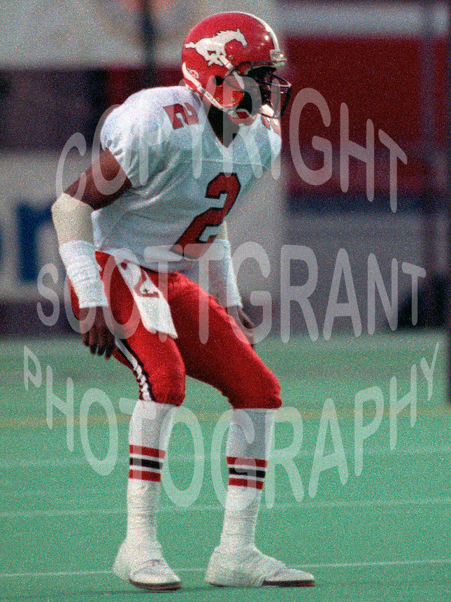 Junior Thurman Calgary Stampeders 1991 Photo Scott Grant