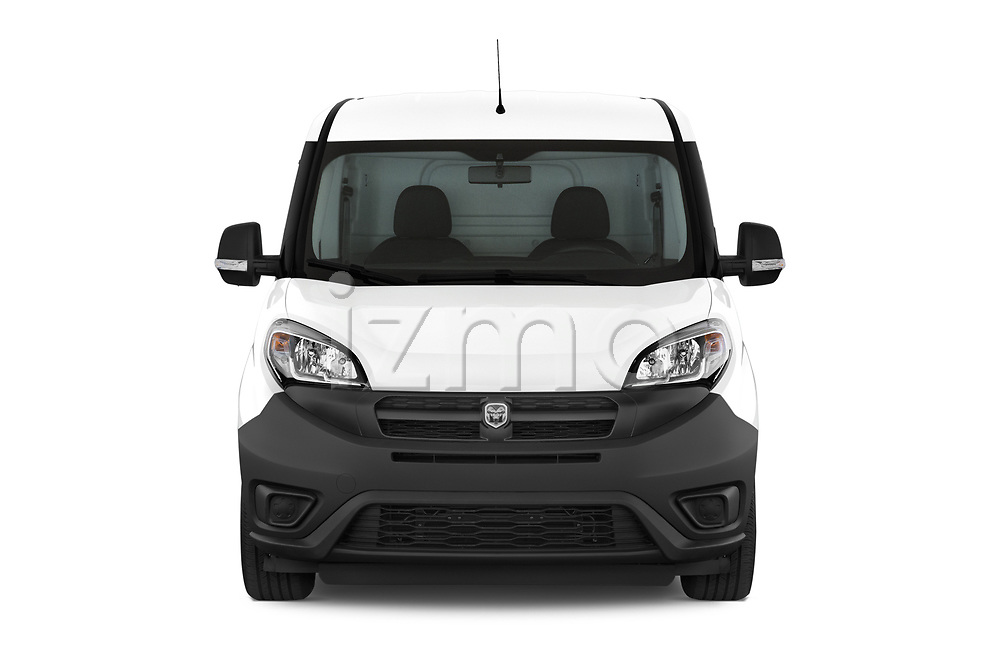 Car photography straight front view of a 2018 Ram Promaster City Tradesman Cargo 4 Door Cargo Van
