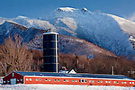 A Lamoille Valley farm with a view of Mount Mansfield in Cambridge, VT, USA