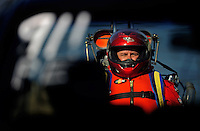 Jul. 18, 2009; Augusta, GA, USA; IHBA drag boat racer Joe Dutra is loaded into the water during qualifying for the Augusta Southern Nationals on the Savannah River. Mandatory Credit: Mark J. Rebilas-